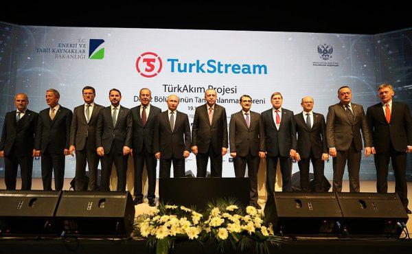 Vladimir Putin a participat acum trei zile, alături de preşedintele Turciei, Recep Tayyip Erdogan, la ceremonia ce a marcat finalizarea unei noi secţiuni a proiectului TurkStream. (foto Kremlin)