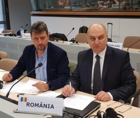 Cristi Godinac, Președintele Sindicatului Român al Jurnaliștilor MediaSind și președinte executiv al FAIR-MediaSind (stânga) şi Președintele FAIR - MediaSind, Leonard Pădureț.