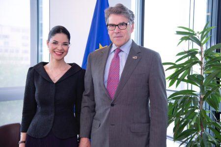 Ana Birchall a avut o întrevedere bilaterală cu Rick Perry, Secretarul Energiei al SUA.