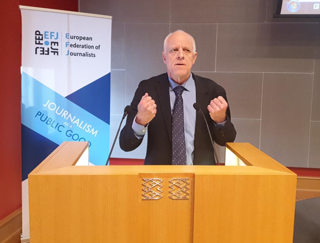 Mogens Blicher Bjerregard, Președinte al Federației Europene a Jurnaliștilor