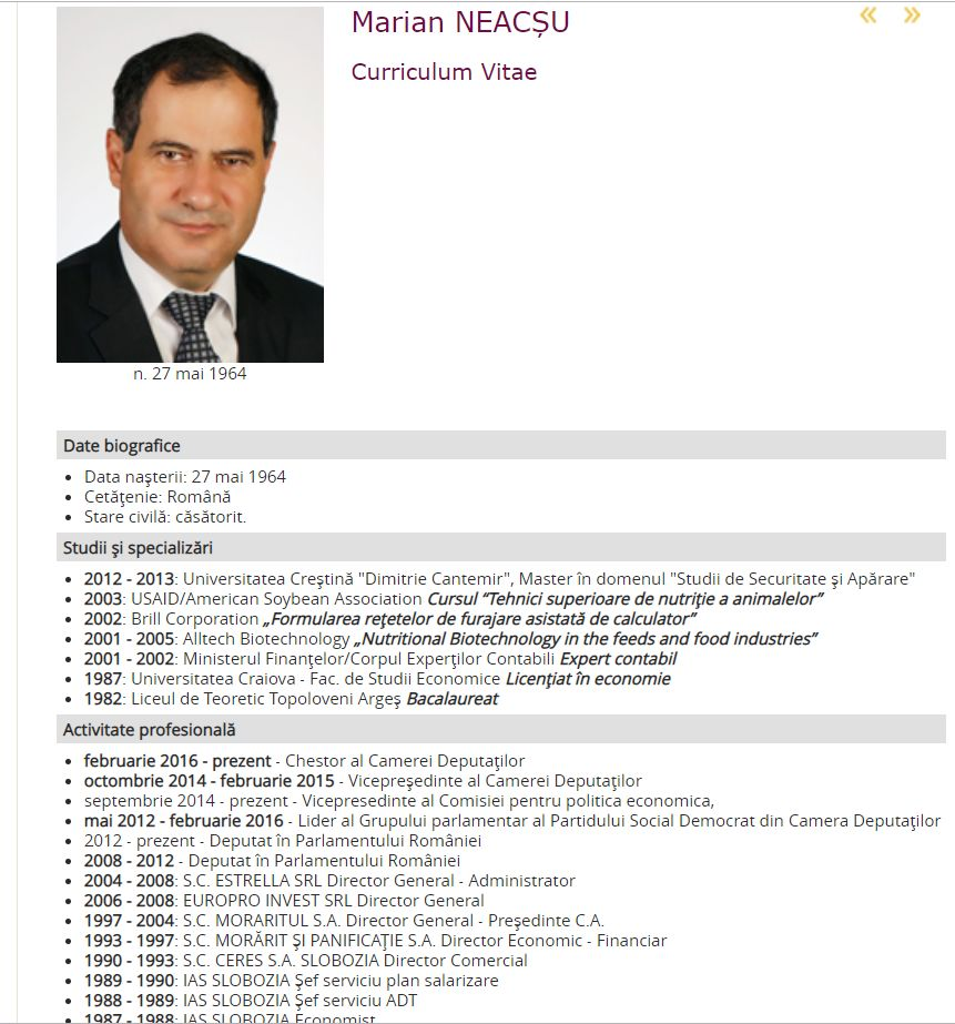 http://www.cdep.ro CV- Legislatura 2012-2016