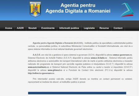 Agentia pentru Agenda Digitala a Romaniei (A.A.D.R.) se va transforma în Autoritatea pentru Digitalizarea României (ADR).