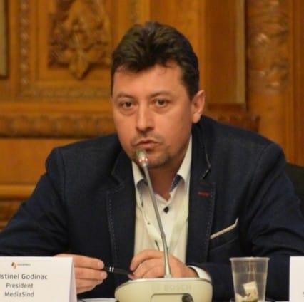 Cristi Godinac, președintele executiv al FAIR-MediaSind și președinte al Sindicatului Român al Jurnaliștilor MediaSind