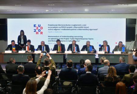 Memorandum Potpisan pentru proiecte PESCO și području kibernetičke sigurnosti | Foto: MORH / T. Brandt