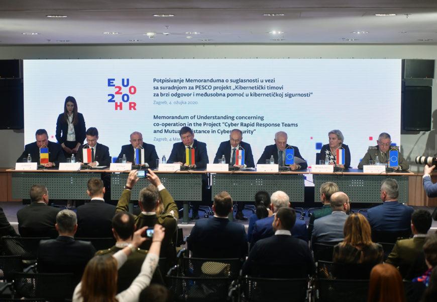 Memorandum Potpisan pentru proiecte PESCO și području kibernetičke sigurnosti   Foto: MORH / T. Brandt