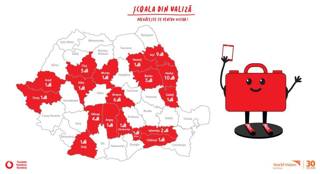 Acoperire #ScoalaDinValiza, Vodafone