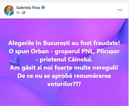 Facebook Gabriela Firea