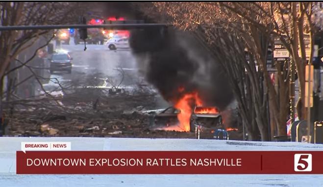 SUA: Explozie puternică în oraşul Nashville; poliţia suspectează că ar fi un act deliberat