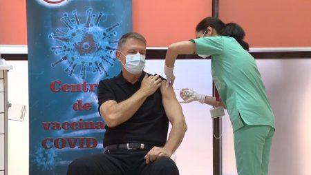 Preşedintele Iohannis s-a vaccinat anti-COVID-19