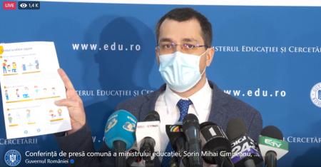 Conferință de presă comună a ministrului educației, Sorin Mihai Cîmpeanu, și ministrului sănătății, Vlad Voiculescu - În ce condiții revin elevii la școala (LIVE)