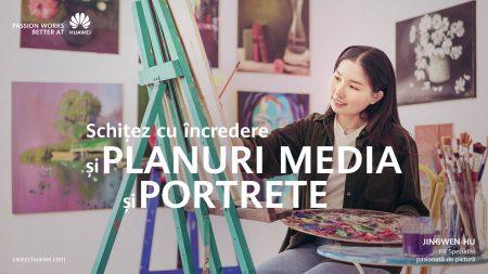 Jingwen Hu pasionata de pictura Huawei Romania posturi locuri de munca IT&C