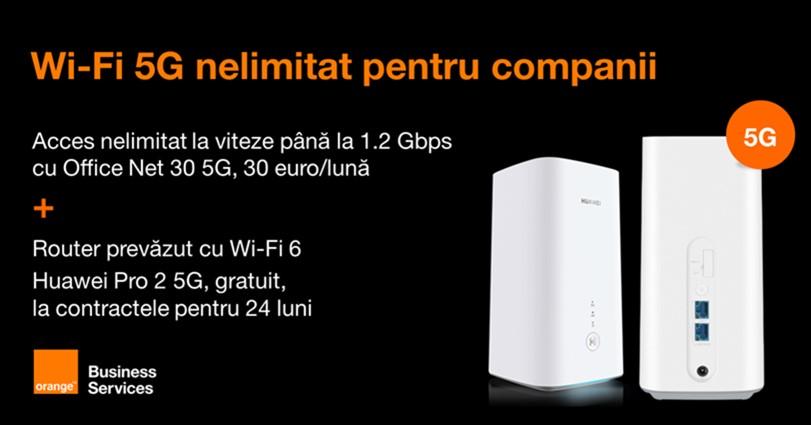 Orange Business Services lanseaza Office Net 30 5G companii