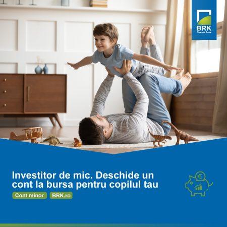 """BRK a lansat """"Contul de investiții la bursă pentru copii"""" - un produs prin care își propune să contribuie la educația bursieră a celor mici"""