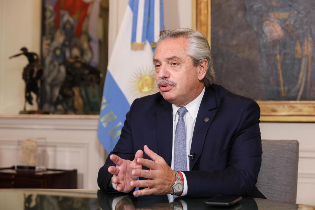 Preşedintele argentinian Alberto Fernandez
