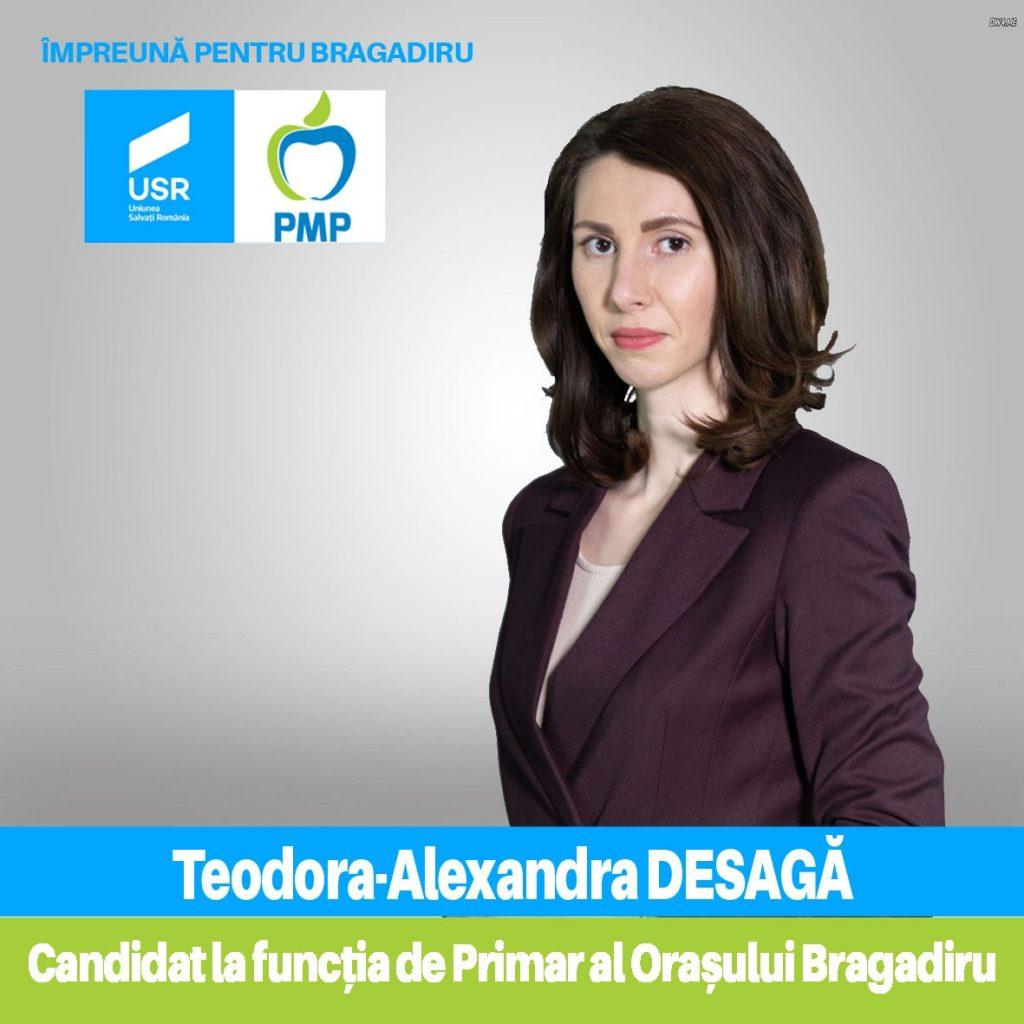 Teodora Desaga primar Bragadiru Ilfov USR PMP
