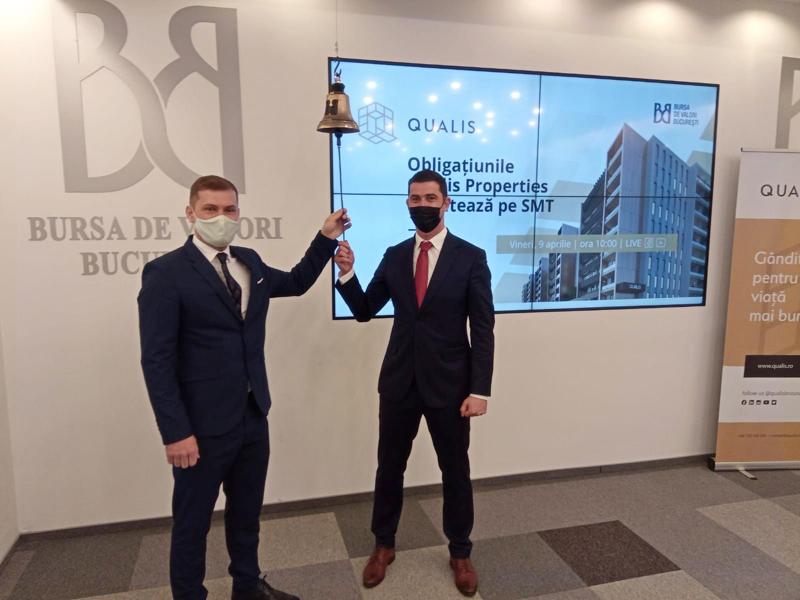 Dezvoltatorul imobiliar Qualis Properties a listat prima sa emisiune de obligațiuni la Bursa de Valori București, pe SMT