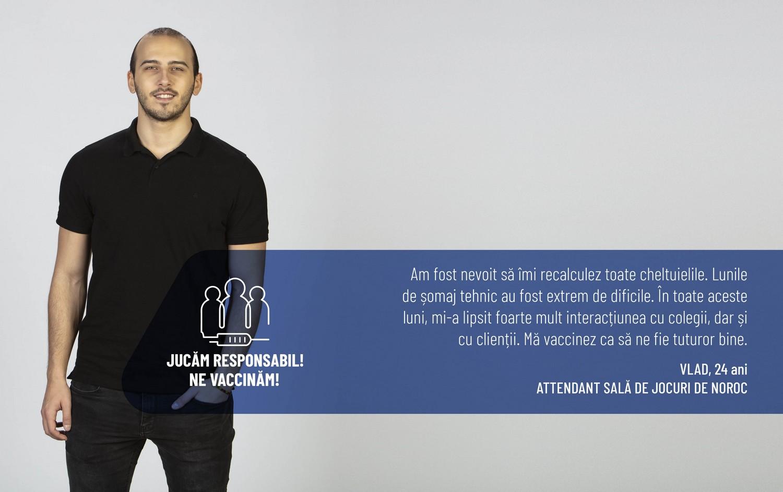 testimonial angajat gambling campania vaccinare anticovid industria jocurilor de noroc Rombet Romslot Romanian Bookmakers