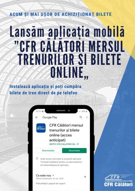 CFR Călători aplicatie mobila