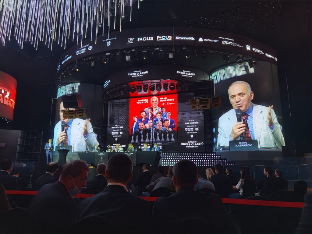 Garry Kasparov, Superbet Chess 2021, Grand Chess Tour, Romania