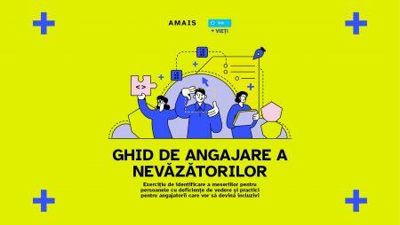 """AMAIS lansează """"Ghid de angajare a nevăzătorilor"""" și propune 9 meserii pentru aceștia"""
