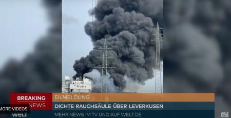 Germania: Explozie într-un parc industrial din Leverkusen, cu importantă degajare de fum