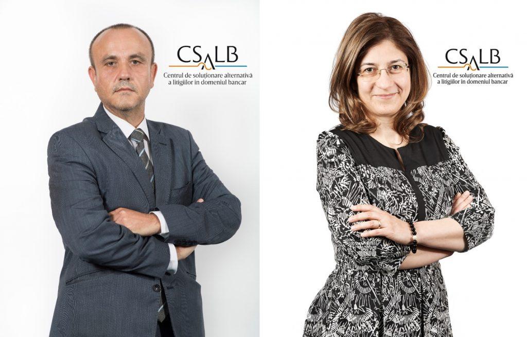 Ionut Stefan și Alina Alina Radu, conciliatori CSALB negociere clineti banci sfaturi consumatori recomandari banci