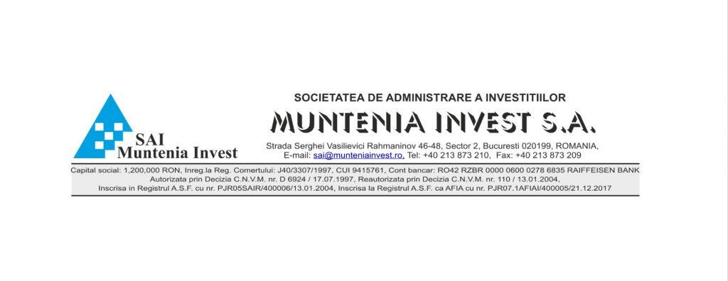 sai muntenia invest nota de informare Fondul Deschis de Investitii FDI Plus Invest