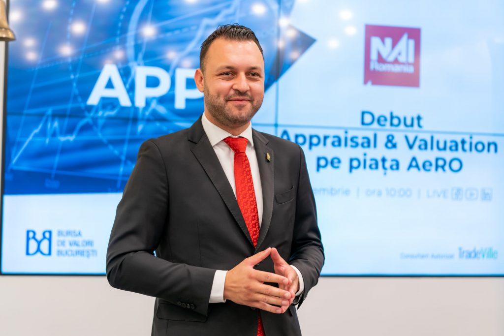 Appraisal & Valuation, companie care oferă servicii de evaluare, consultanță și dezvoltare imobiliară, s-a listat pe piața AeRO