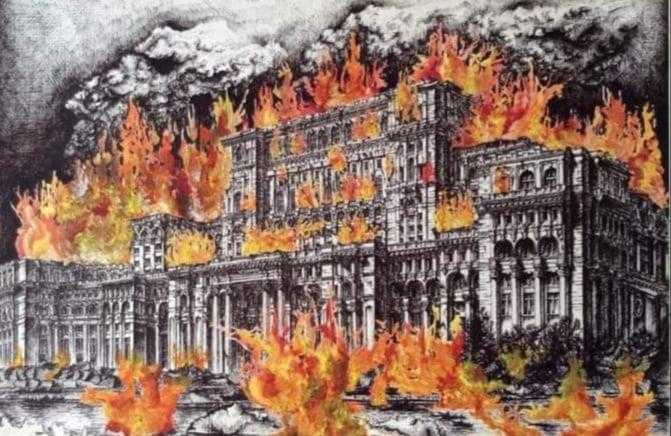 Palatul Parlamentului – desen de Angela Tincea